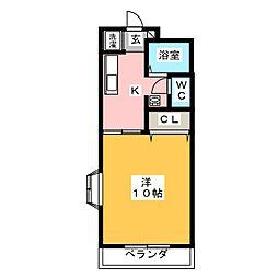 ストリームフジ[1階]の間取り