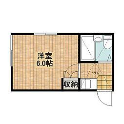 神奈川県川崎市中原区下新城2の賃貸アパートの間取り