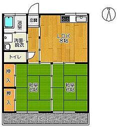 佐賀県佐賀市高木瀬東1丁目の賃貸アパートの間取り