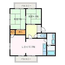 カーサ金剛坂I[2階]の間取り