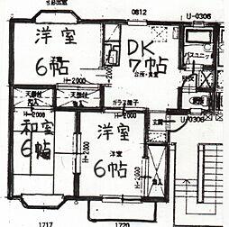 長野県松本市大字里山辺の賃貸アパートの間取り