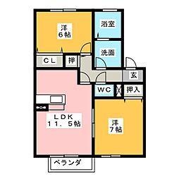 フジコーコ波木 B棟[1階]の間取り