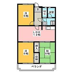 第2橋本マンション[3階]の間取り