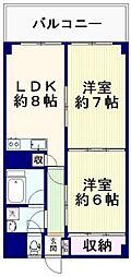 中野サニーパレス[4階]の間取り