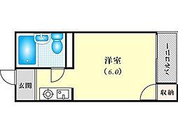 アパートメント東淀川III[3階]の間取り