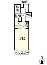 フィローリ長筬[2階]の間取り
