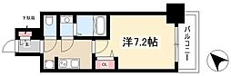 ADVANCE NAGOYA MOXIE 3階1Kの間取り