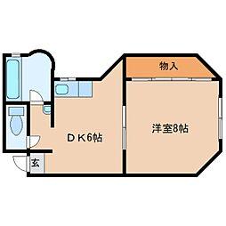 奈良県大和高田市旭北町の賃貸マンションの間取り