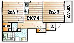 グレイス・EIII[1階]の間取り