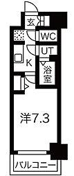 ファステ―ト難波グランプリ 5階1Kの間取り