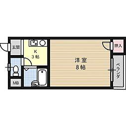 マンション一里塚[4階]の間取り