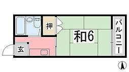 リバーサイドヴィラ姫路F棟[206号室]の間取り