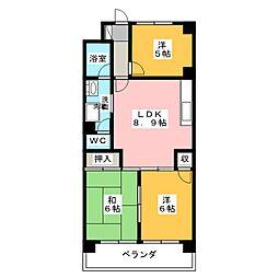 プラムアネックス[4階]の間取り