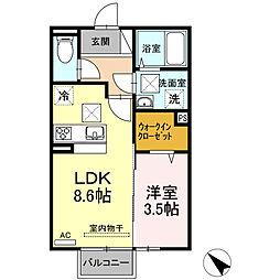 (仮)D-room西本町 B棟[103号室]の間取り