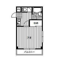 神奈川県相模原市中央区相生3丁目の賃貸マンションの間取り