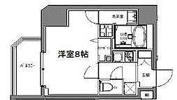 S-RESIDENCE大森山王 5階1Kの間取り