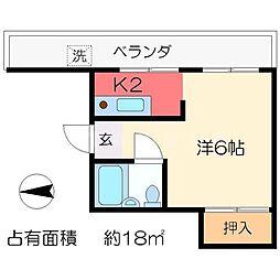 リバーサイドクロカワ[3階]の間取り