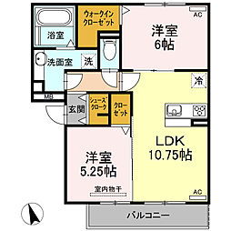 仮)D-room半田市大高町 A棟[203号室]の間取り