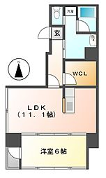 愛知県名古屋市千種区山門町2丁目の賃貸マンションの間取り