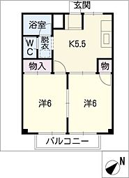 ハピネスPart2[2階]の間取り