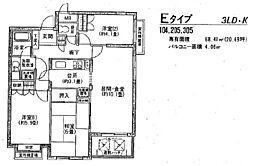 フラット浜田山[3階]の間取り