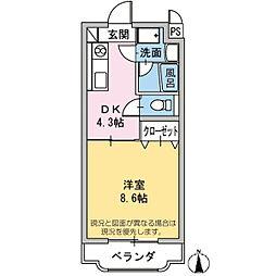 エール15[3階]の間取り