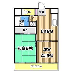 東京都国立市青柳1丁目の賃貸マンションの間取り