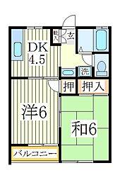 プロスペールD[1階]の間取り