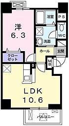 グランブル3[2階]の間取り