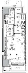 JR山手線 田町駅 徒歩12分の賃貸マンション 7階1Kの間取り