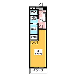 江戸橋利平治マンション[3階]の間取り