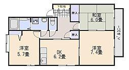 パークメゾン砂田 B棟[2階]の間取り