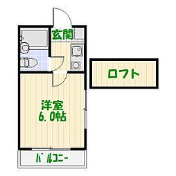 ジュネパレス高砂第02[2階]の間取り