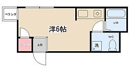 神奈川県相模原市南区古淵3丁目の賃貸アパートの間取り