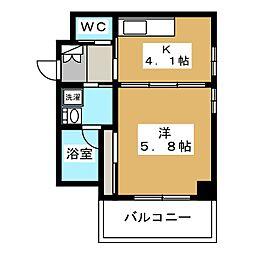 クリプトメリア京都六条[5階]の間取り