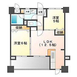 ルネッサンス21博多[9階]の間取り