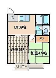 新百合ケ丘ベルシオン[1階]の間取り