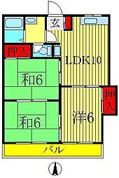 桜田コーポ[1階]の間取り