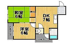 第二富士屋マンション[3階]の間取り