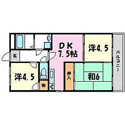 ドミール甲子園[2階]の間取り