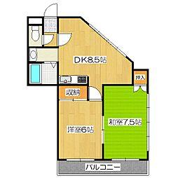 醍醐アーバン[3階]の間取り