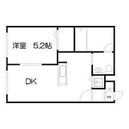 ブランノワールDECO[2階]の間取り