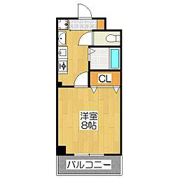 WISTARIA KURAMAGUCHI[3階]の間取り