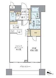 JR山手線 目黒駅 徒歩1分の賃貸マンション 6階1LDKの間取り