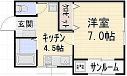エトワール浅ノ川[105号室号室]の間取り