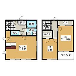 [一戸建] 愛知県名古屋市天白区植田山2丁目 の賃貸【/】の間取り