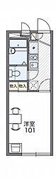 レオパレスYU[2階]の間取り
