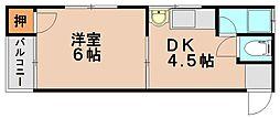 ひかりコーポ[2階]の間取り