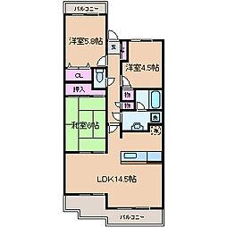 ガーデンハウス綱島A棟[2階]の間取り