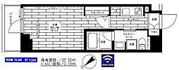 西武新宿線 鷺ノ宮駅 徒歩8分の賃貸マンション 7階1Kの間取り